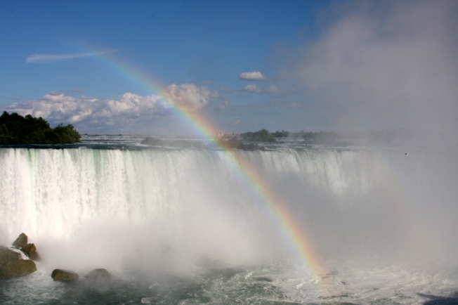 Rainbow at Niagra Falls Canada