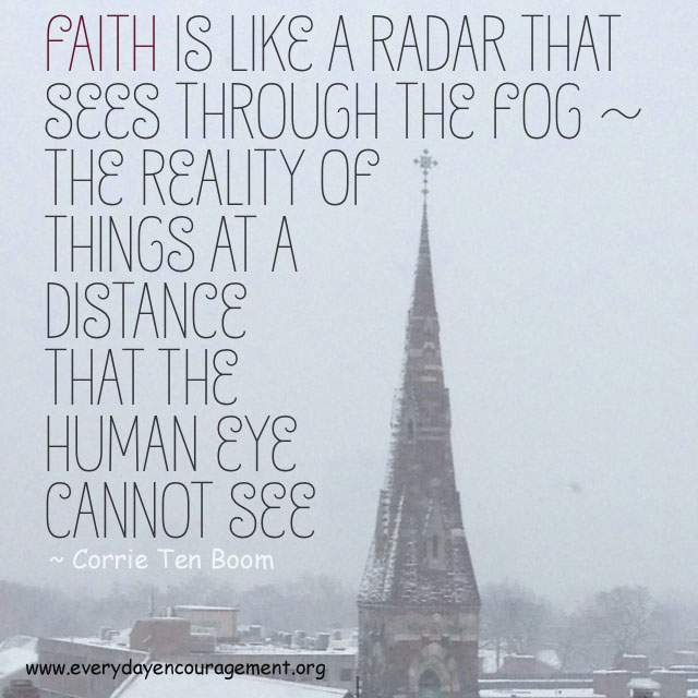 Faith is like a radar