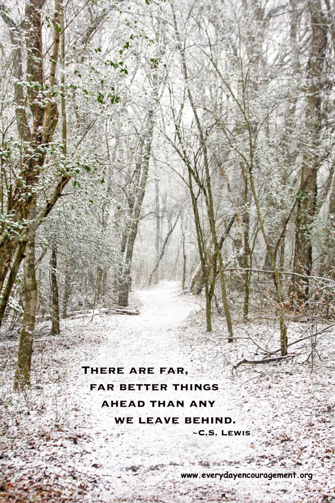 Snowy Path CS Lewis quote