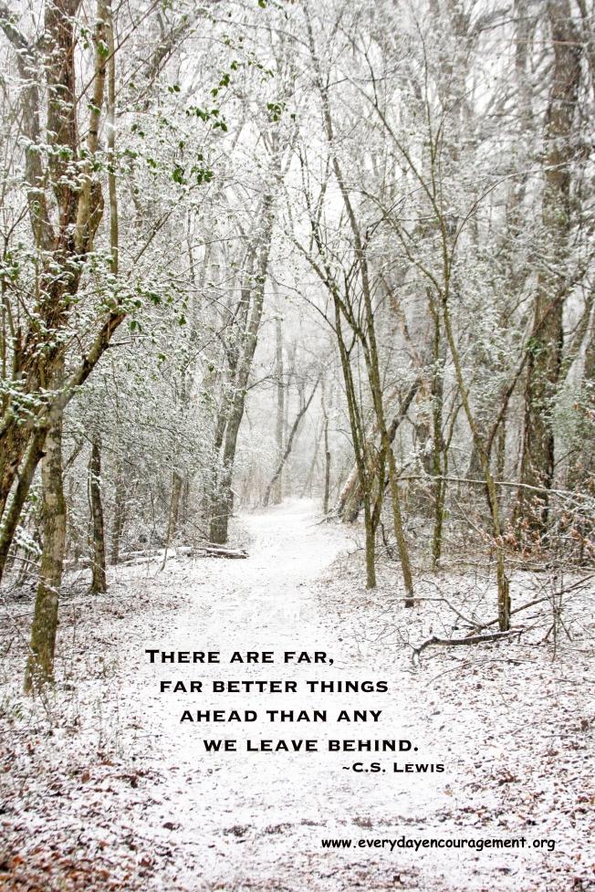 Snowy Path CS Lewis quote